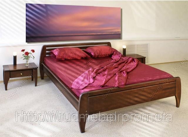Кровать двуспальная массив с ящиками