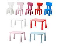 Комплект IKEA MAMMUT стіл, 2 крісла