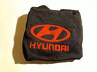 Чехлы на подголовники Hyundai черные (2шт)