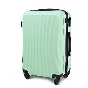 Эксклюзивный чемодан пластиковый из поликарбоната мятный WS951-41 большой 88 л