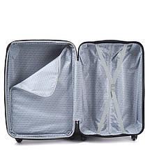 Эксклюзивный чемодан пластиковый из поликарбоната мятный WS951-41 большой 88 л, фото 2