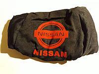 Чехлы на подголовники Nissan черные (2шт)
