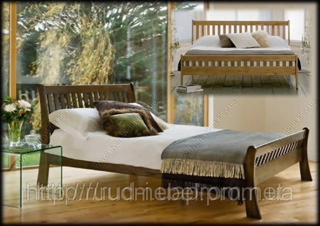 Двуспальная деревянная кровать из массива