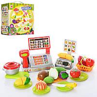 Продукты на липучке, касса, посуда, дощечка, коробка, фото 1