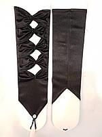 Длинные женские вечерние атласные перчатки открытые