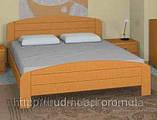 Кровать двуспальная из массива дерева от производителя, фото 3
