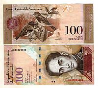 Венесуэла 100 боливар 2015 год  состояние UNS