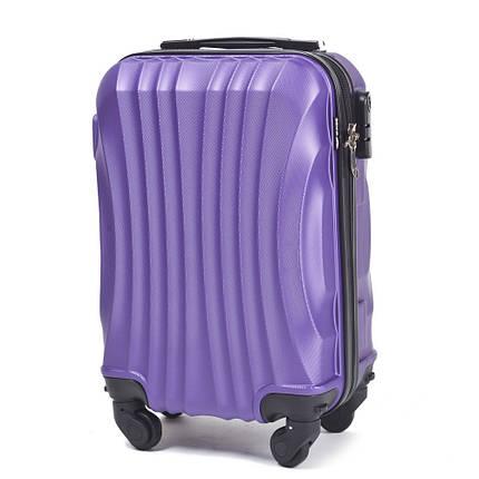Прочный чемодан пластиковый из поликарбоната фиолетовый WS951-61 большой 88 л, фото 2
