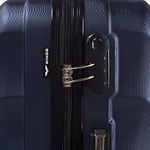 Прочный чемодан пластиковый из поликарбоната фиолетовый WS951-61 большой 88 л, фото 3
