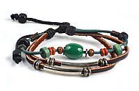 Кожаные качественные браслеты в этно стиле, фото 1