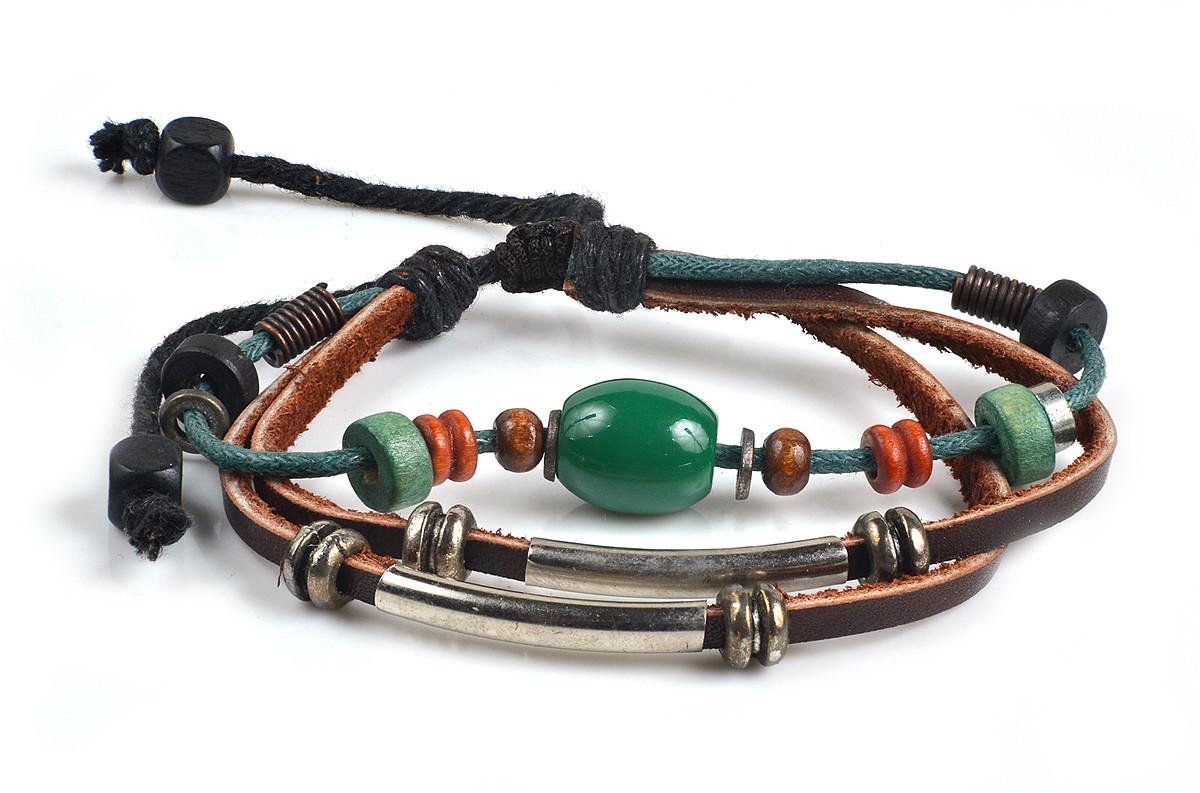 059b0e477333 Кожаные качественные браслеты в этно стиле - Интернет магазин украшений и  аксессуаров Elit-jewell в