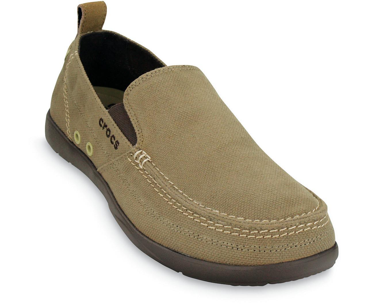 Лоферы мужские текстильные мокасины Кроксы Валу оригинал / Crocs Mens Walu Loafer