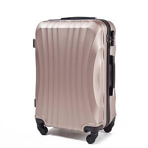 Ударопрочный чемодан 60 л пластиковый из поликарбоната цвет шампань (золотистый) WS951-82