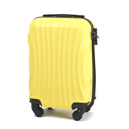 7f938dd6122e Чемодан малый пластиковый (поликарбонат) желтый ручная кладь 37 л WS951-03,  фото