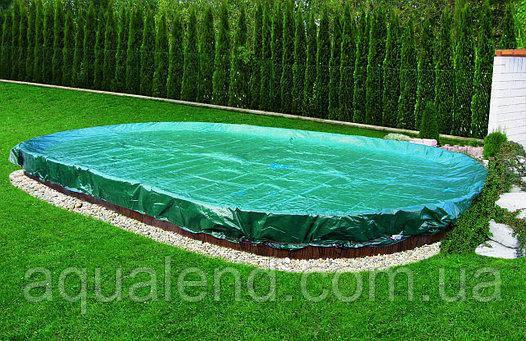 Захисне накриття для овальних каркасних і морозостійких басейнів розміром 5,5х3,7м, фото 2