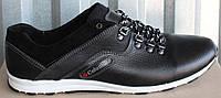 Великаны туфли мужские спортивные кожаные черные, мужская обувь больших размеров от производителя модель БФ18Ч