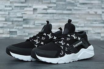 "Женские кроссовки Nike Air Huarache Ultra Supreme x Louis Vuitton ""Black"" (люкс копия)"