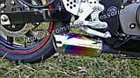 Прямоточный глушитель (прямоток) Motorace Mini Радужный на мотоцикл, фото 6