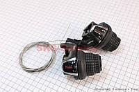 Переключатель  грипшифт  левый 3 скорости +правый  7 скоростей комплект  SL-RS 35 SHIMANO