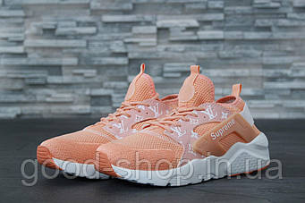 "Женские кроссовки Nike Air Huarache Ultra Supreme x Louis Vuitton ""Peach"" (люкс копия)"