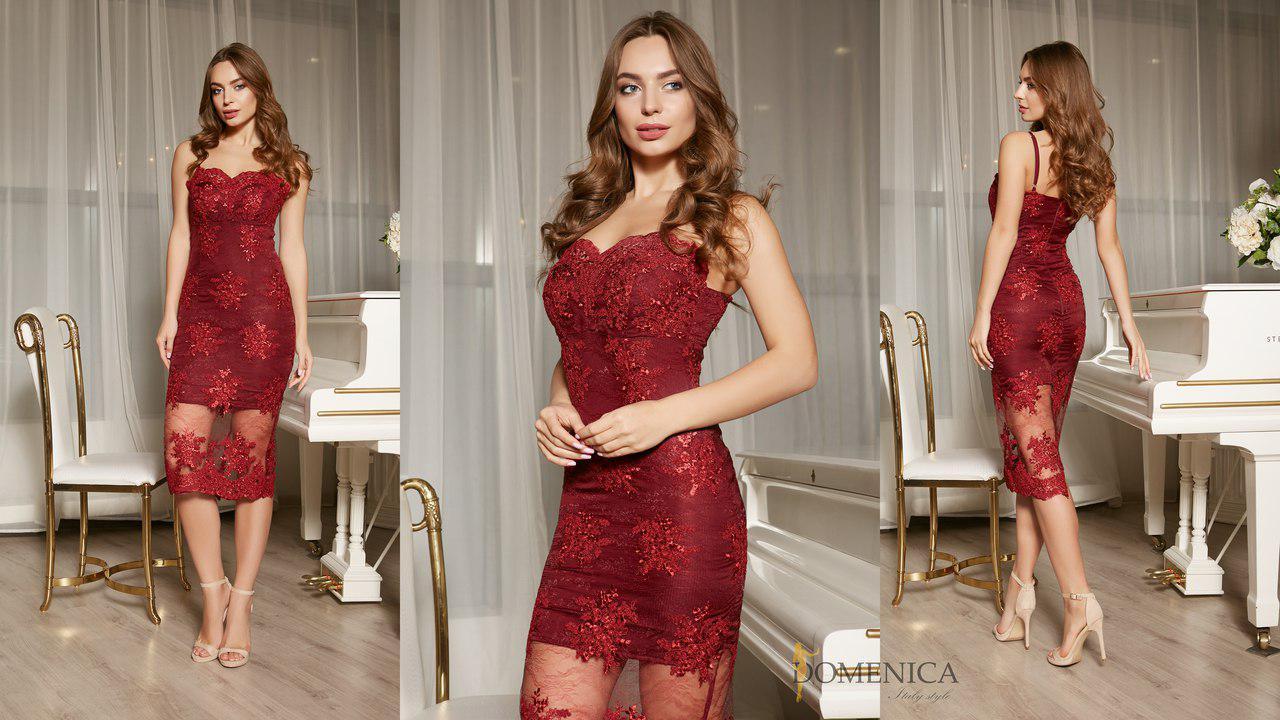 1d952c8f0ce Нежное коктейльное платье из дорого кружева и шелка (разные цвета ...