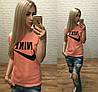 Новинка! женская футболка катон Турция персикS M L