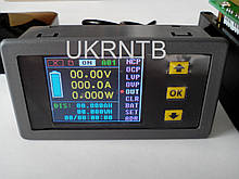 Тестер емкости аккумуляторов / 0-100 В, 0-100 А / Вольтметр / Амперметр / Ваттметр / Wi-Fi / USB