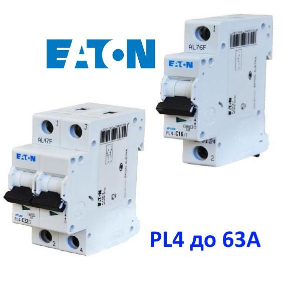PL4 до 63А 4kA автоматические выключатели Eaton
