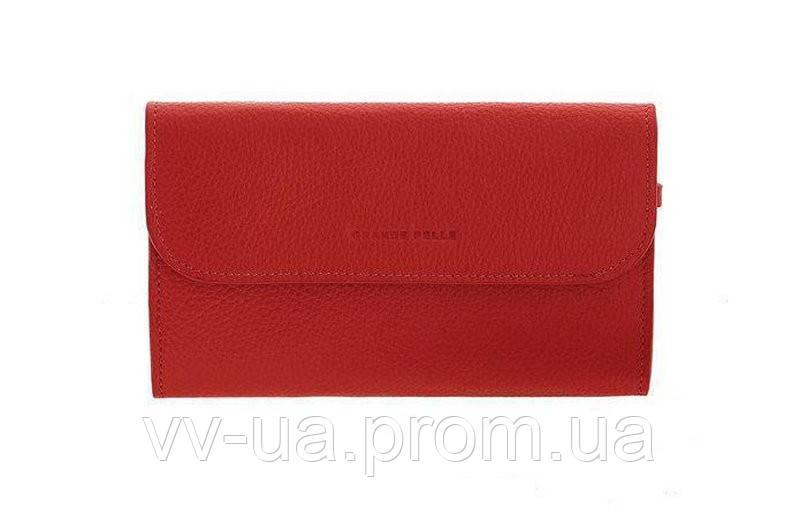 Клатч Grande Pelle Practico, красный, кожа (703760)