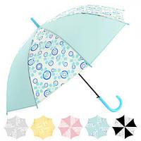 Зонт-трость полуавтомат  диаметр купола 60 см 8 спиц оптом со склада