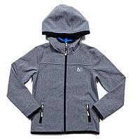 Куртка SOFTSHELL на флисе для мальчика NANO размеры 4-14 лет, рост 100-152 ТМ Nanö 1400 M S18 Mid Grey Mix, фото 1