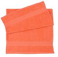 Полотенца махровые 70х140 оранжевого цвета