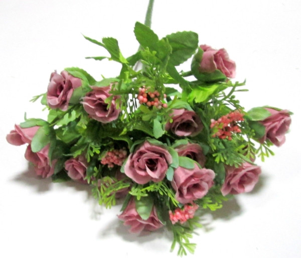 Букет мини-роз с добавкой 27 см, сиреневый Прованс