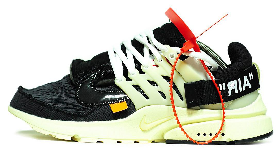 Мужские кроссовки NikeAir Presto x Off-White (Найк Аир Престо) черные