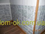 Декоративні панелі ПВХ Регул Галька зелена - 80 ГАЛ, фото 3
