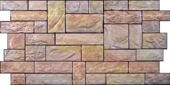 Декоративні панелі ПВХ Регул Сланець справжній коричневий - ПНЖ1