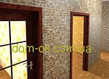 Декоративні панелі ПВХ Регул Сланець справжній коричневий - ПНЖ1, фото 5