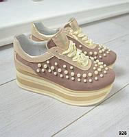 Кроссовки на Maxi подошве с жемчугом, фото 1