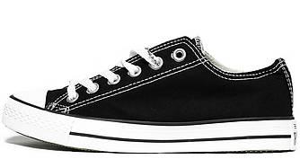 Мужские кеды Converse All Star (Конверс) черно-белые