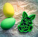 Вирубка для печива великодній кролик з яйцем, фото 2