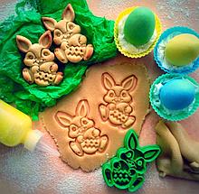 Вырубка для печенья пасхальный кролик с яйцом