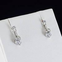 Интересные серьги с кристаллами Swarovski, покрытые золотом 0770