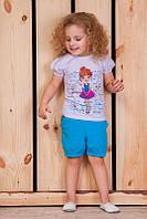 "Летний костюм для девочки ""Девочка"". Размер  26 ( рост 80-86) цена 110.00 грн, 28( рост 86-98),30 ( р 98-110), фото 1"