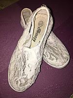 Б/У Кружевные балетки для девочки, в отличном состоянии, 27 размер, фото 1