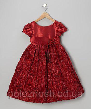 Б/У Платье бордовое zulily на 3-5 лет в отличном состоянии