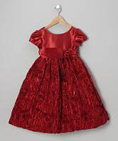 Б/У Платье бордовое zulily на 3-5 лет в отличном состоянии, фото 1