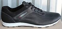 Кожаные мужские кроссовки перфорация, мужские кроссовки 46-50 от производителя модель БФ21, фото 1
