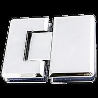 Петля для стеклянных дверей 180 градусов с креплением на стекле.
