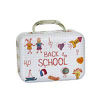 Маленькая шкатулка Чемодан Опять в школу, 25г ( коробочка для кофе и чая )