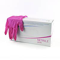Перчатки нитриловые Polix PRO&MED (100 шт/ 50 пар  в упаковке) Pink